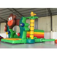 Buy cheap Small Commercial Bouncy Castle , Blow Up Jump House Cartoon Monkey Image product