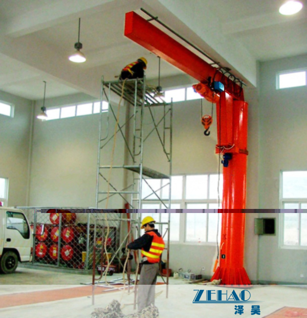 China ISO Approval Slewing Workstation Jib Boom Crane For Plant Building Maintenance on sale