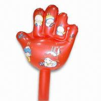Buy cheap PVC Inflatable Hand with Customized Designs, Various Colors are Available product