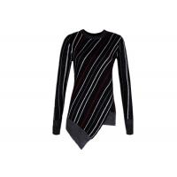 Buy cheap Diagonal Stripes Women's Cotton Pullover Sweaters Contrast Color Customized Size product