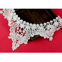 Buy cheap Emrbroidered Cotton Collar Applique With Retro Guipure Lace Pattern Custom product
