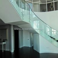 Buy cheap Indoor Standoff Glass Railing Stainless Steel Staircase Railing Price India product