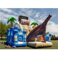 Buy cheap Commercial Blow Up Water Playground , Bouncy Castle Play Place Smooth Surface Friction Resistant product
