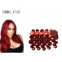 Buy cheap No Bad Smell Body Wave Human Hair Weave For Ladies Well Double Weft Constructed product