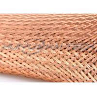 Buy cheap High Density Weave Tinned Copper Braided Sleeving For Wire Assembly product