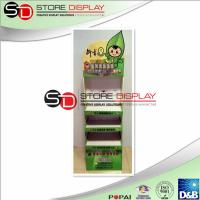 Buy quality Green environmental protection  cardboard  3 shelves  floor display at wholesale prices