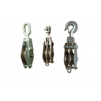 Buy cheap Hook Type Lifting Tackle Iron Wheel Hoisting Block product