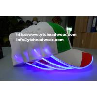 China Supply special  advertising promotion hats caps with EL led light for night activity or bar on sale