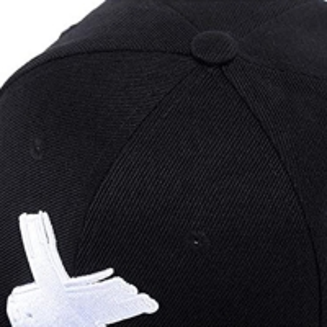 Buy cheap Six Panels 8cm Long Flat Brim Snapback Hats With Metal Buckle product