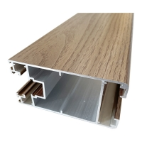 Buy cheap 3D Touching Wood Finish Aluminium Profiles Heat Transfer For Outdoor product