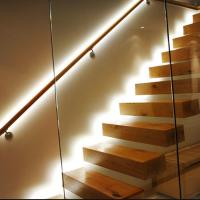 Buy cheap Australian style high quality indoor floating solid wood tread open stairs/staircases product