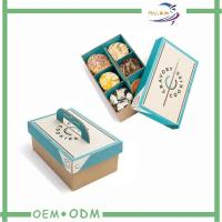 Buy cheap Disposable Biodegradable Paper Bento Lunch Boxes / Take Away Bento Box product