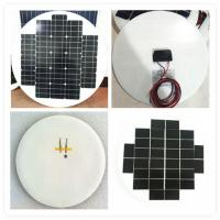 Buy cheap 7W Circle Solar Panel, Anti aging EVA, White / Black TPT, Flexible Installation from wholesalers