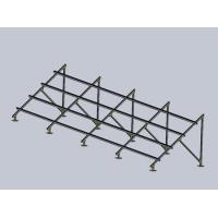 Buy cheap Galvanized Base Ground Mounted Solar PV Systems , Metal  Photovoltaic Mounting System product