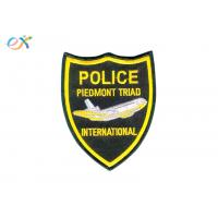 Buy cheap Professional Police Embroidered Patch Iron On Backing For Uniform Garments product