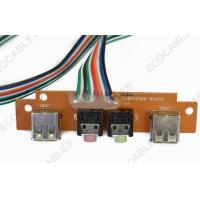 Buy quality PCB 10 Pin Flat Ribbon Cables With USB A Male / Audio Connector at wholesale prices