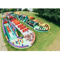Buy cheap Race Bounce House Combo Adult Puncture Proof With Air Blower Repair Kit product