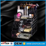 China new products acrylic makeup display, acrylic makeup box, acrylic makeup