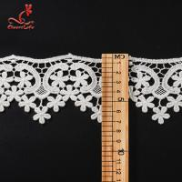China Wholesale Cotton Water Soluble Flower Lace Trim For Clothing on sale
