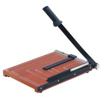 Wooden Base Guillotine Manual Paper Cutter 12 Sheets Cutting Capacity