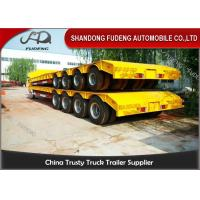Buy cheap 150 - 200 Ton Heavy Duty Lowboy Trailer For Construction Machines 4 Lines 8 Axles product