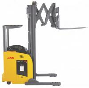 1.8 Ton Reach Truck Forklift Forward Double Scissor 36V Electric Control High Efficiency
