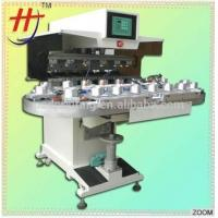 CE Factory Price 6 Colors Pneumatic Semi-auto Rotary Pad Printer for Plastic/Glass Bottle Printing
