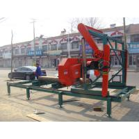 China Portable lumber mobile saw mill with diesel engine horizontal band saws