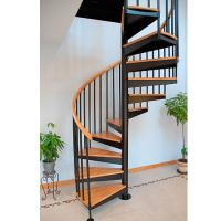 Buy cheap Save space spiral wood steel stair product