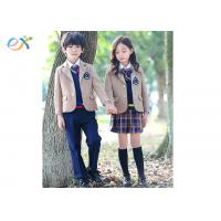 Buy cheap Custom Winter Primary School Uniform Jacket / Skirt / Pants For Students product
