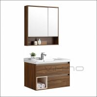 Buy cheap Modern Melamine Bathroom Vanity Plywood And PVC Bathroom Cabinet product