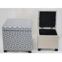 Buy cheap 100% handwoven fabric  home storage ottoman with lid and durable, rectangle shape product