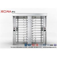 Buy cheap Security Controlled Full height Turnstile Security Gates Rapid Identification with Double Door with RFID Card product