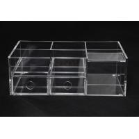 Buy cheap Clear Commercial Store Fixtures 6 Compartments For Mix Makeup Store product