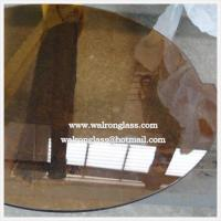 Bronze Round Shape Tempered/Toughened Glass for Different Size