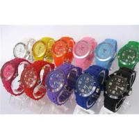 Free shipping latest new style hot sale 13color ice BRAND watch, silicon band and alloy ca