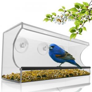 Buy cheap Birdscapes window bird feeder House shaped clear acrylic bird feeder product