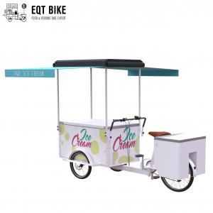 Buy cheap EQT 138L Or 110L Front Load Tricycle Ice Cream Bike For Sales DC Powered Freezer Tricycle Carts Food Trike product