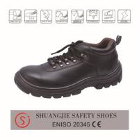 safety work shoes 8037 light surface leather upper, dual pu outsole