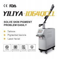 Buy cheap Top homogeneous beam EO q switch 1064nm 532nm long pulse ND YAG laser tattoo removal for clinic product