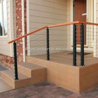 Buy cheap Stainless Steel Wire Decking Balustrade with Oak Wood Top Handrail product