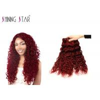 Buy cheap Red Water Wave Bulk Human Hair Bundles 3 Pieces #99J Clip In Small Curly Well product