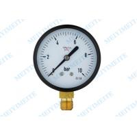 Buy cheap 2.5 Inch Brass connection black steel case hydraulic gauge pressure product