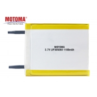 Buy cheap 3.7V 1100mAh Rechargable Lithium Polymer Battery 3.0*50*68mm Motoma Batteries For IOT Devices product