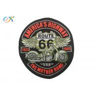 Buy cheap Rectangle Embroidered Motorcycle Patches , Custom Made Patches For Leather Vests product
