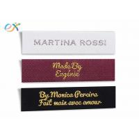 Buy cheap Multicolor Logo Garment Woven Tag , Polyester Custom Clothing Tags product