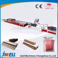 China Jwell PVC plastic cross door plate extrusion line on sale