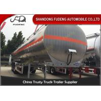 Buy cheap 55CBM Three Axles Fuel Tanker Semi Trailer Aluminum alloy / Carbon Steel Body product