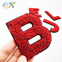 Buy cheap Sew - On 100% Towel Custom Chenille Patches Embroidery Chenille Letter For Clothing product