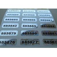 Buy cheap Self Adhesive Security Sticker Labels Scratch Off Custom Printing product